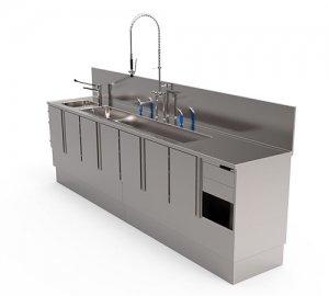 Reinigungstischanlage für reinigung von Endoscopen